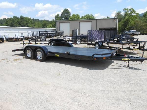 Big Tex 70dm 18 Metal Floor Car Hauler With Slide In Ramps Koster